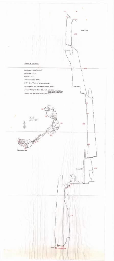 Harta Avenul de sub varful Grind 1988