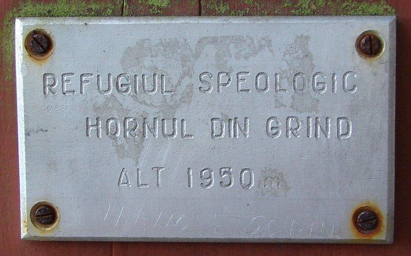 Placuta Refugiul Speologic Grind